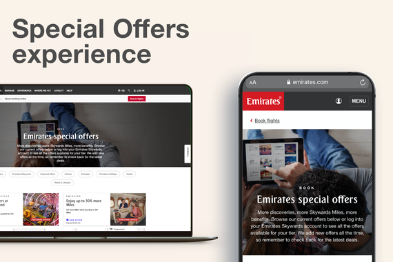 Special Airline Offers Section for a Website
