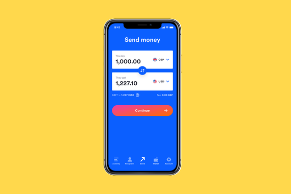 Money Transfer Mobile App for Currencies Direct