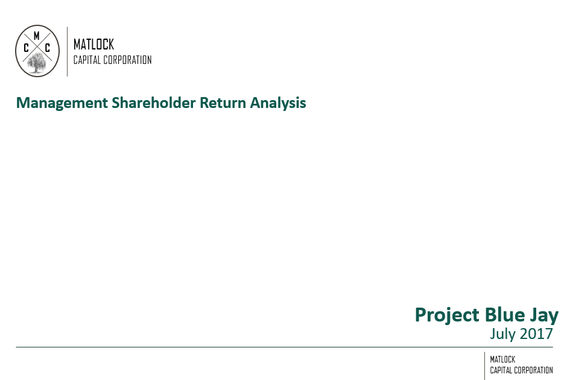 Equity Return Analysis Using a Two Class Share Structure