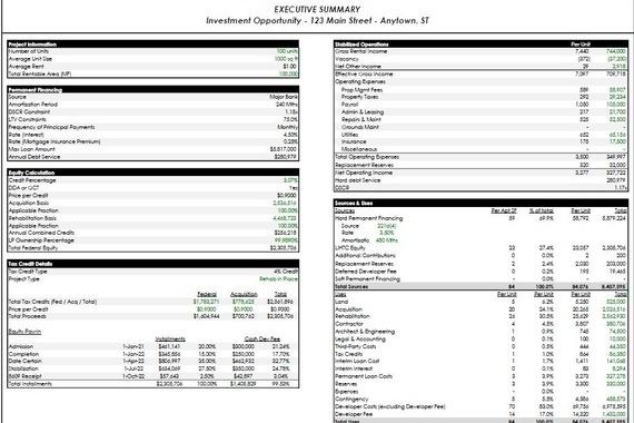 Underwriting Model for the LIHTC Developer