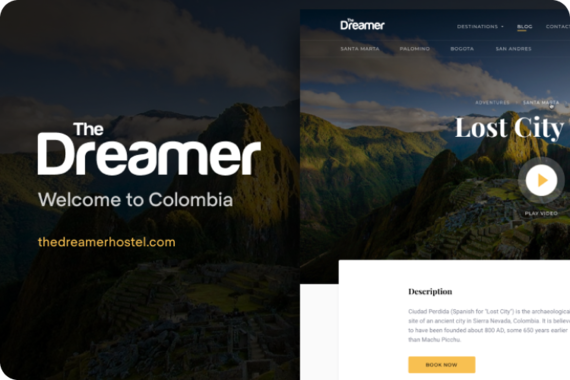 Travel Booking Website Redesign and Design Blog for Colombia Hotel Chain