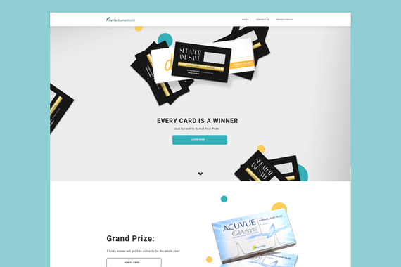 PerfectLensWorld - Promotional Campaign Landing Pages
