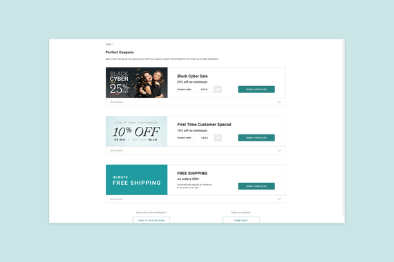 Coupon Code Page for Search Engine Optimization (SEO)