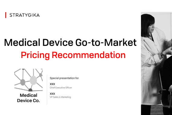 Pricing Recommendation for New MedTech Co
