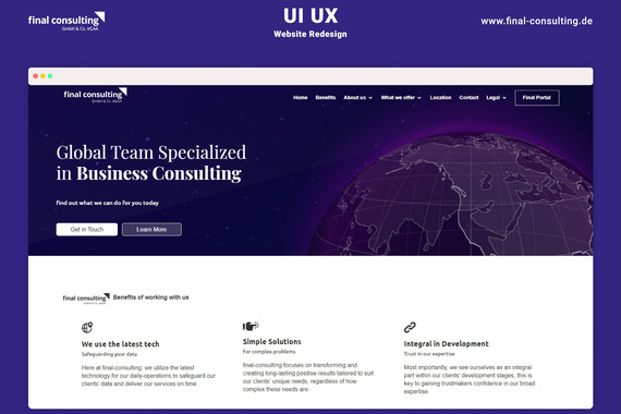 Web Design for Final Consulting