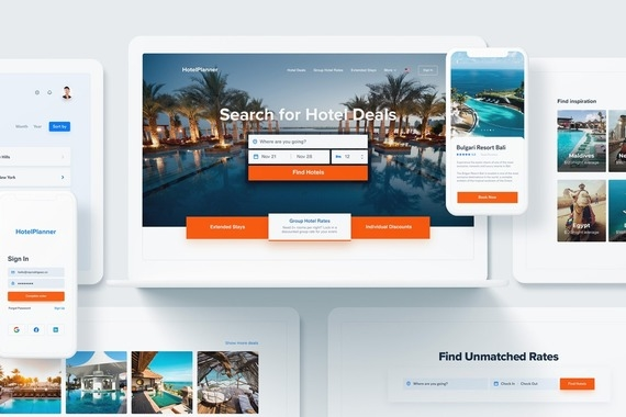 Hotel Planner | Travel Web Design (UI/UX Design)