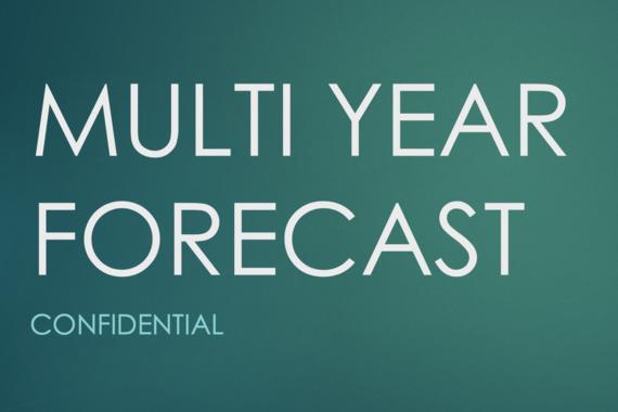 Multiyear Forecast With Multiple Growth Scenarios