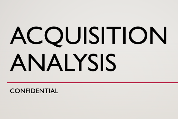 Acquisition Analysis | Pro Forma Financial Statements