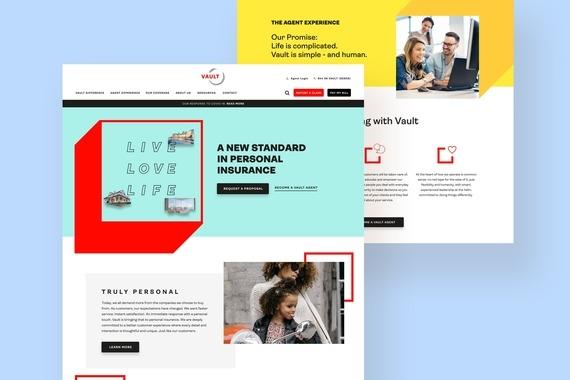 Vault Insurance Website Design