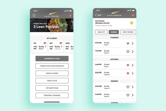 LA Fitness App Redesign