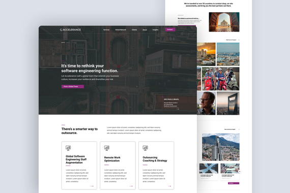 Website UX Redesign for a Global Outsourcing Firm