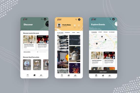 UX Design   Atlanta Artist Community App