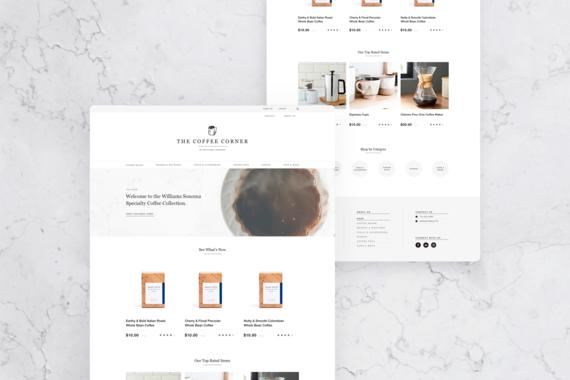 UX eCommerce Design   The Coffee Corner