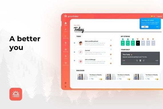 SaaS Dashboard for Personal Growth Platform