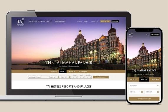 Taj Hotels, Resorts and Palaces Responsive Website