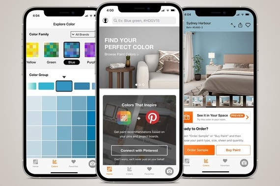 The Home Depot Project Color Mobile App and eCommerce Experience