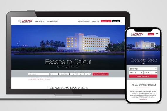 Gateway Hotels & Resorts Responsive Website