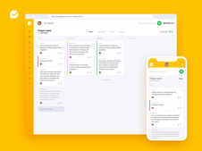 Project and Time Management Web Application | UI/UX Design