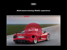 Audi R8 Blink | Immersive WebGL Video Experience