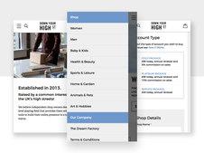 Down Your High Street - Bespoke Responsive UI & Branding
