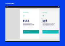 IBM Partners - Business Portal Website -  UX and UI Development