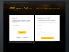 TV Academy Nominations Platform | UX and Design