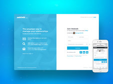 Webtalk | Social Media Responsive Webapp | Product Design Lead