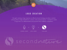 Second Nature Brand Creation and UI Design