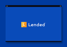 Lended™ Peer2Peer Cryptocurrency Lending Platform UX Design