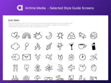 Airtime Style Guide - Selected screens