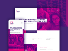 Brand Design, UX, and Web Design - Education Recruitment