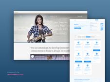 Connect ITG - SaaS Website Wireframing