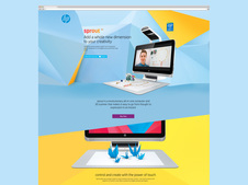 HP Sprout Microsite