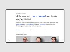 Creathor Ventures—Rebranding and Web Design