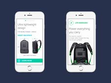 AMPL Smart Backpack Website