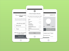 Data-focused Dating Mobile App