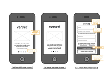 Versed iOS Application UX and Design