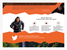 Bear Grylls Survival Race Web Design Project