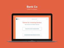 Bank Co Small Business Prototype