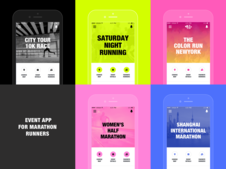 Event App for the Marathon Host and Runners | Mobile
