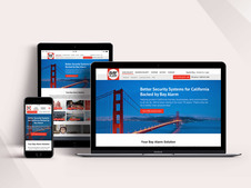 Bay Alarm | UI Design for a Security Website