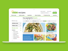 Redesign of Asda Recipe Site