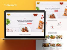 Divoora Food Ordering Platform Design