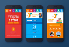 YMCA Responsive Web Design and Poster Illustration