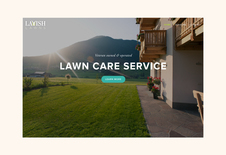 Lavish Lawns Naming, Logo, Website, and Collateral
